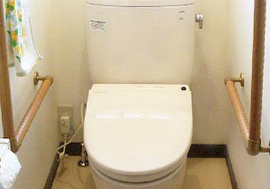トイレを洋式化してバリアフリーに