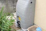 雨水貯留タンク設置