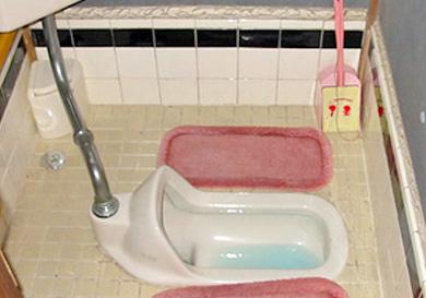 トイレの洋式化と床の改装